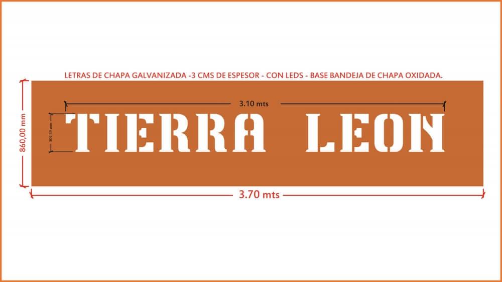 Letras corporeas. Chapa pintada. Tierra Leon. letterSystems. 7416be33499